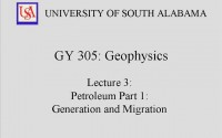 Geophysics Lecture – Petroleum Generation & Formation