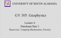 Geophysics Lecture 2 – Petroleum Reservoirs and Trapping Mechanisms
