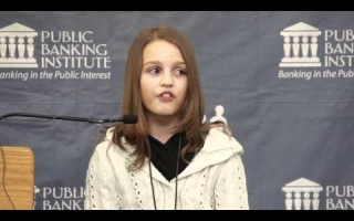 12 year old Canadian Victoria Grant explains the Debt Crisis